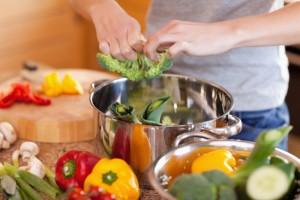 Woman preparing stew